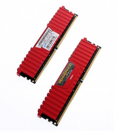 Corsair RAM DDR4(2666) 16GB. (8GBX2) Vengeance LPX - Red