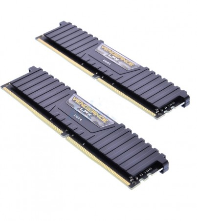 Corsair RAM DDR4(2400) 16GB. (8GBX2) Vengeance LPX - Black