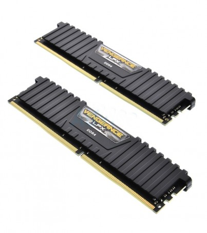 Corsair RAM DDR4(2666) 16GB (8GBX2) Vengeance LPX - Black