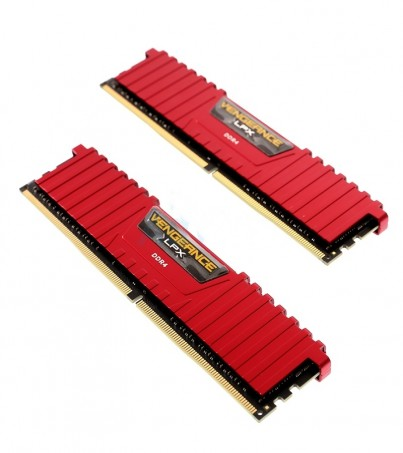 Corsair RAM DDR4(2133) 8GB. (4GBX2) Vengeance LPX - Red
