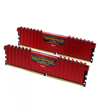 Corsair RAM DDR4(2133) 16GB. (8GBX2) Vengeance LPX - Red