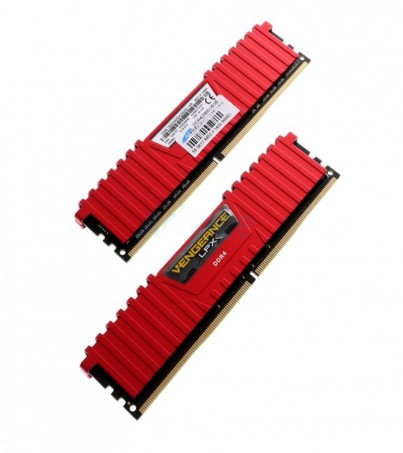 Corsair RAM DDR4(2400) 16GB. (8GBX2) Vengeance LPX - Red