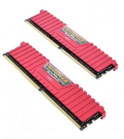 Corsair RAM DDR4(3000) 8GB (4GBX2) Vengeance LPX - Red