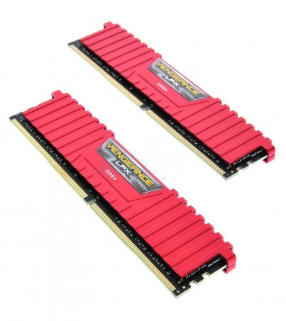 Corsair RAM DDR4(3200) 8GB. (4GBX2) Vengeance LPX - Red