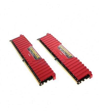 Corsair RAM DDR4(3200) 16GB. (8GBX2) Vengeance LPX - Red