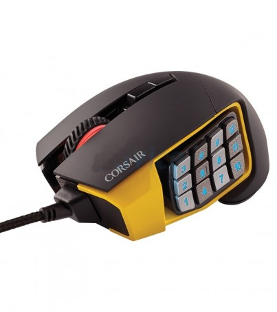 CORSAIR OPTICAL MOUSE Scimitar Pro RGB - Yellow