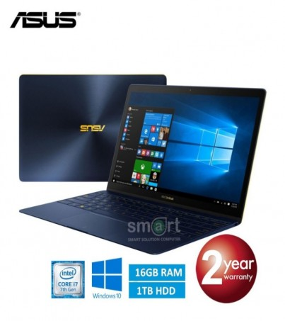 Notebook Asus Zenbook 3 UX390UA-GS031T (Blue) Intel Core i7-7500U ผ่อน0% 10เดือน