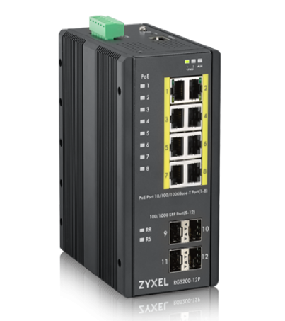 Zyxel RGS200-12P 12-port GbE Managed PoE Switch12-port GbE Managed PoE Switch ผ่อน0% 10เดือน