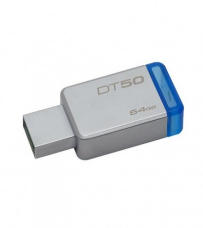 KINGSTON USB FLASH DRIVE 64GB 3.1/3.0 Type-A metal ultra-compact (DT50/64GBFR)
