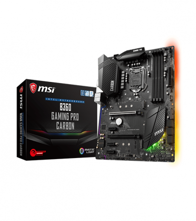 MSI MOTHER BOARD B360 GAMING PRO CARBON