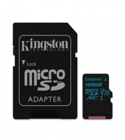 Kingston 128GB Canvas Go! UHS-I microSDXC Memory Card with SD Adapter
