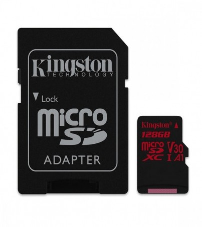 Kingston 128GB Canvas React UHS-I microSDXC Memory Card with SD Adapter