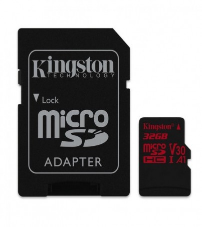 Kingston 32GB Canvas React UHS-I microSDHC Memory Card with SD Adapter