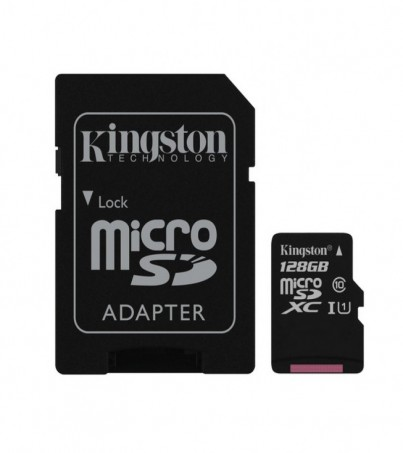 Kingston 128GB Canvas Select UHS-I microSDXC Memory Card with SD Adapter