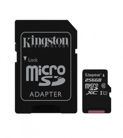 Kingston 256GB Canvas Select UHS-I microSDXC Memory Card with SD Adapter