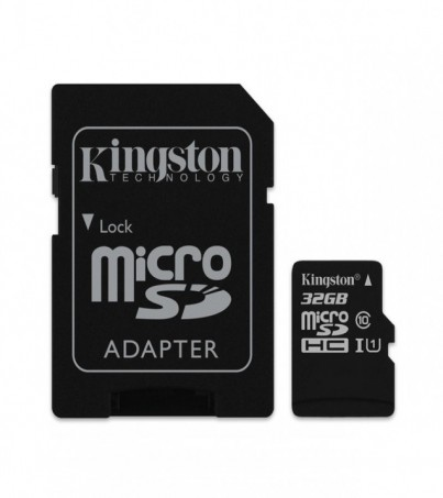Kingston 32GB Canvas Select UHS-I microSDHC Memory Card with SD Adapter