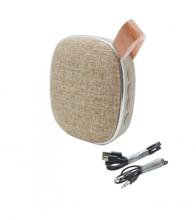 Hoco BS9 Light textile desktop wireless speaker - Blonde&Brown