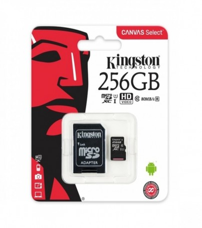 Kingston microSDXC Canvas Select 256GB (SDCS/256GB)