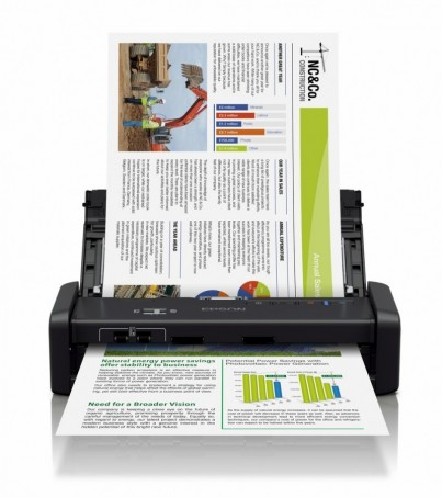 Epson WorkForce DS-360W Wi-Fi Portable Sheet-fed Document Scanner (B11B242502)