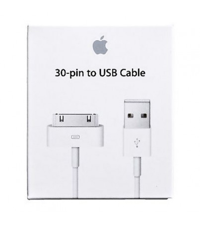 สายชาร์จ Apple 30-pinสำหรับ iPhone 3G/3GS/4/4s (พร้อมกล่อง)