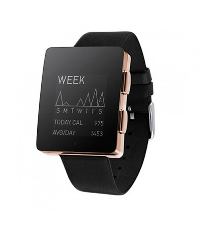 Wellowgraph Black Chrome Edition - Black Leather Strap