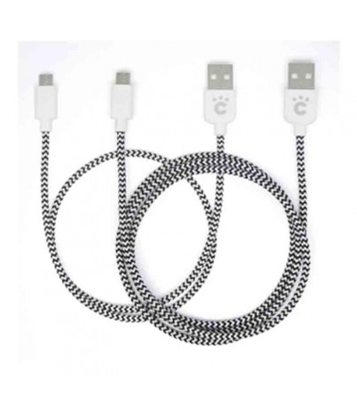 Cheero Fabric braided USB cable with Micro 50cm/100cm set