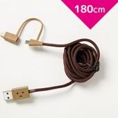 Cheero DANBOARD USB CABLE with Lightning micro USB 180cm
